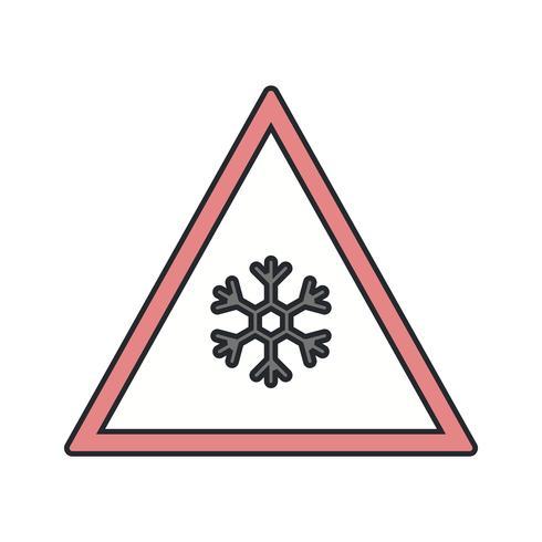 Vector Risque de glace Icône de panneau de signalisation