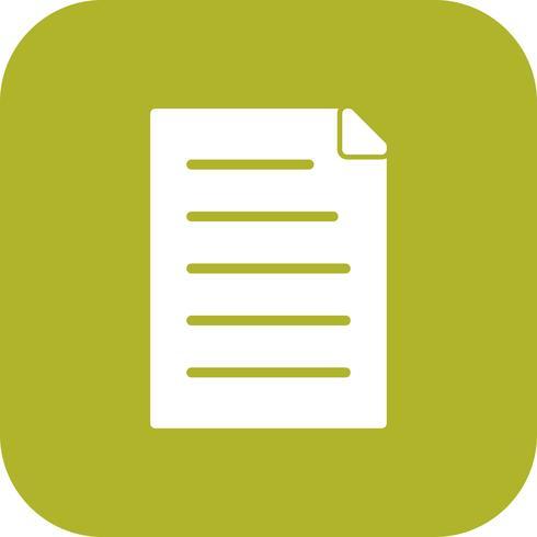 Vektor Dokument Ikon