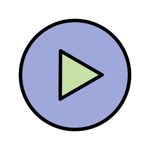 Jogar, ícone, vetorial, ilustração