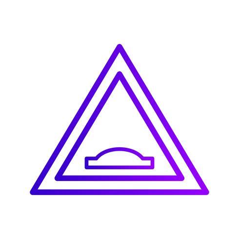 Vector Bultbrug verkeersbord pictogram