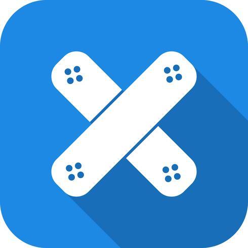 Icono de vector de ayuda de banda