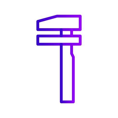 Vector opsplitsing dienst verkeersteken icoon