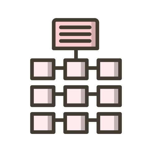 Icône de réseau de vecteur