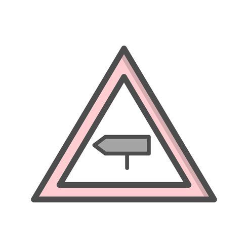 Icône de signe de route route vecteur majeur cross