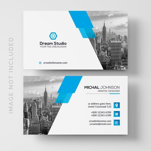 Cartão corporativo elegante azul vetor