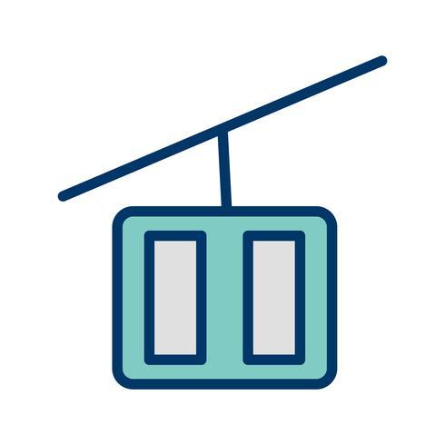 Vector ícone de elevador de cadeira