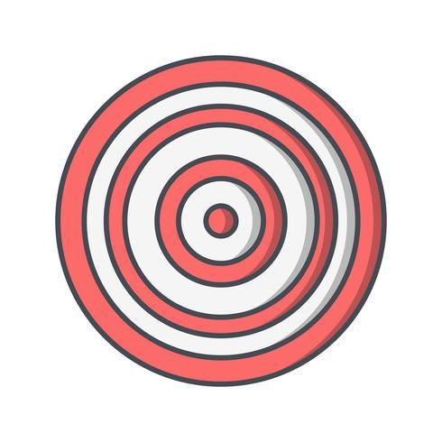 Illustrazione di vettore dell'icona del bullseye