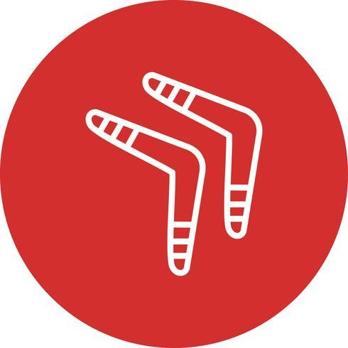 Illustrazione di vettore dell'icona di Boomerang
