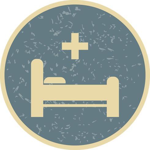 Icône de lit de vecteur