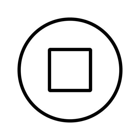 arrêter l'icône illustration vectorielle