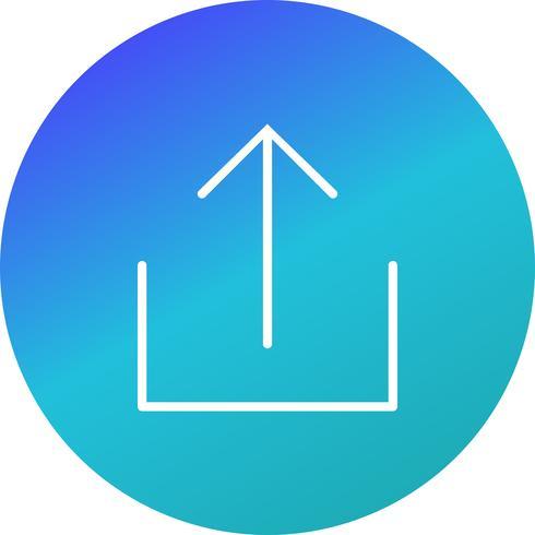 Subir icono de ilustración vectorial vector