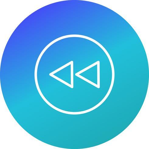 Retour icône illustration vectorielle vecteur