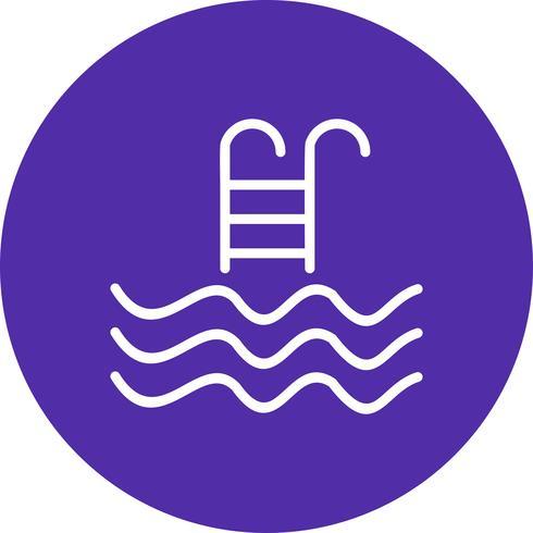 Illustration vectorielle de piscine icône