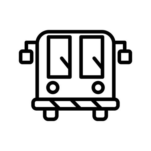 Vector Airport Bus Icon