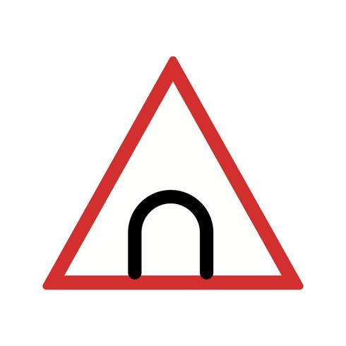 Icona del segnale stradale del tunnel di vettore