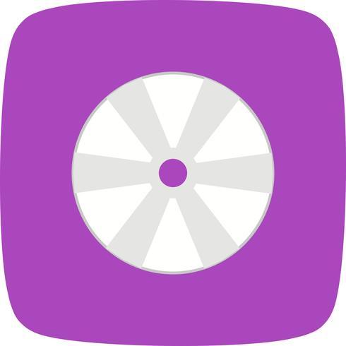 Icono de disco compacto ilustración vectorial
