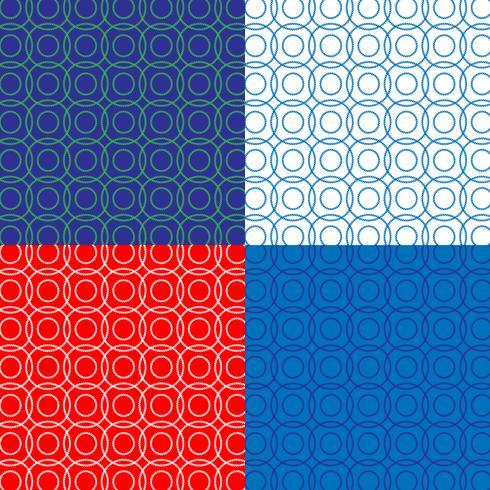 patrón de cuerda círculo náutico vector