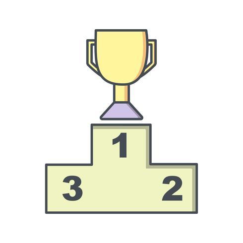 Podium Icon Vector Illustration