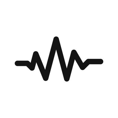 Illustration vectorielle de battements de son icône