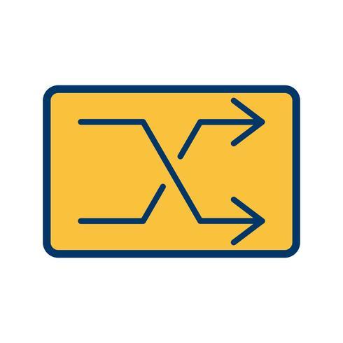 Shuffle pictogram vectorillustratie
