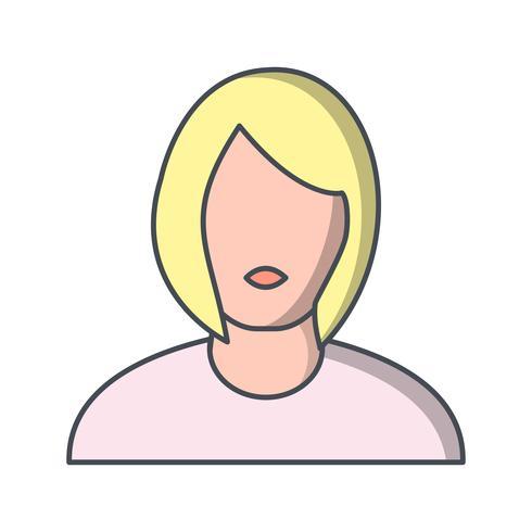Avatar féminin icône illustration vectorielle vecteur
