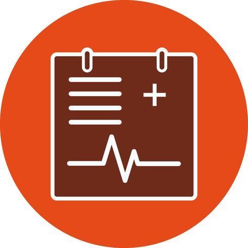 Ícone de gráfico médico de vetor