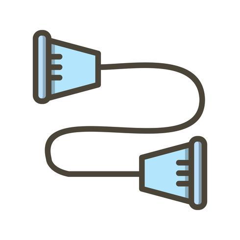 Strandpulling icône illustration vectorielle