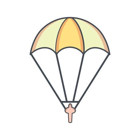 Ilustração em vetor ícone pára-quedista