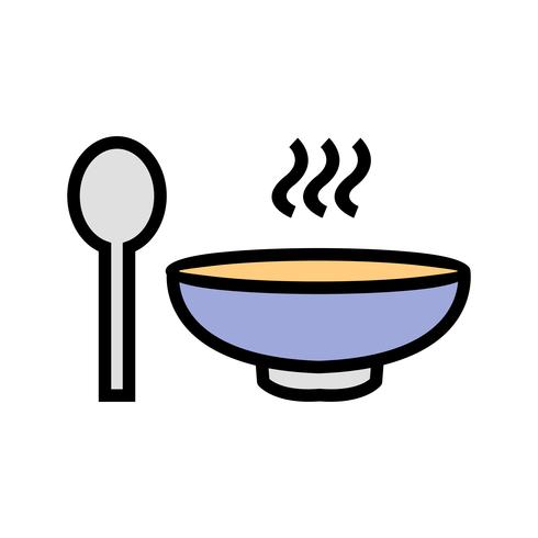Icono de sopa de vectores