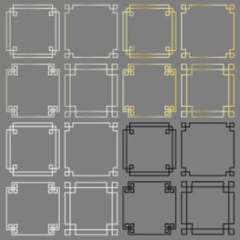 square fretwork frames