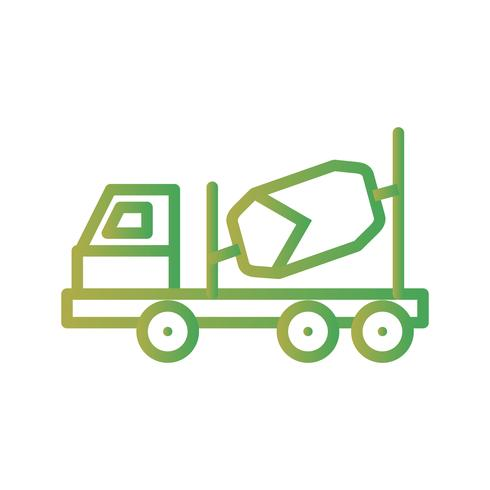 Vector Concrete Mixer Icon