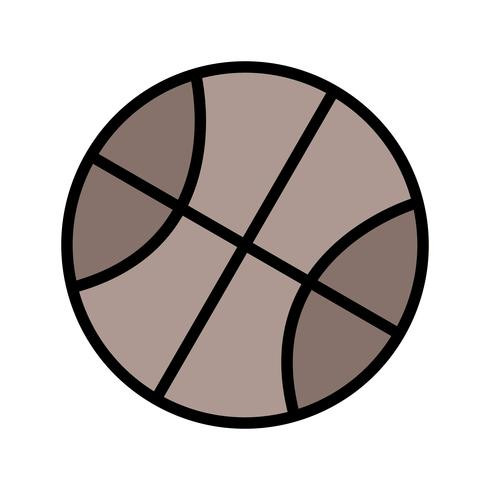 Illustration vectorielle de basket-ball icône