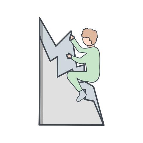 Icono de escalada ilustración vectorial vector