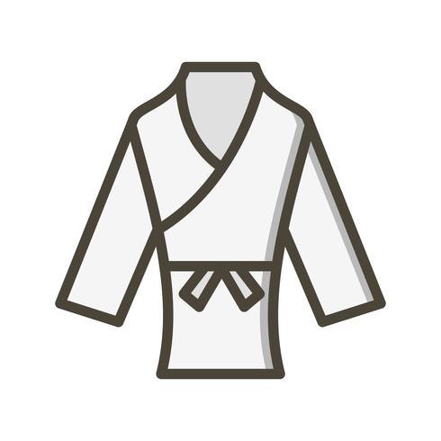Karate pictogram vectorillustratie vector