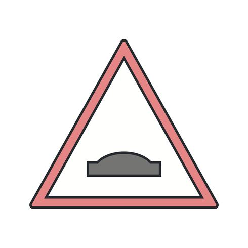 Vector Hump bridge Road Sign Icon