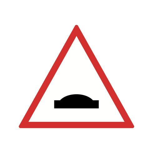 Vector Hump Bridge Road Sign Icon