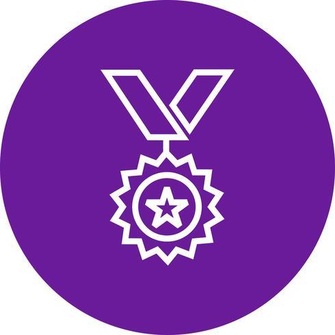 Medaille pictogram vectorillustratie