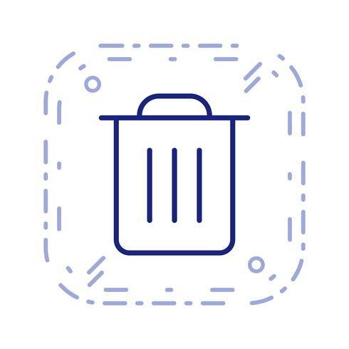 Vuilnis pictogram vectorillustratie