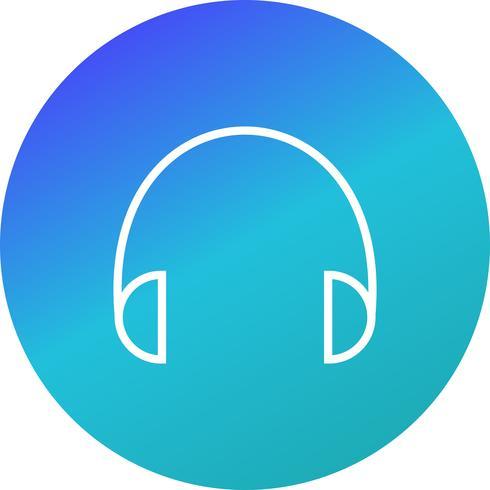 Fones de ouvido ícone Vector Illustration
