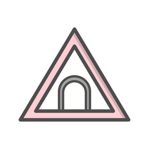 Icône de panneau de signalisation de tunnel de vecteur