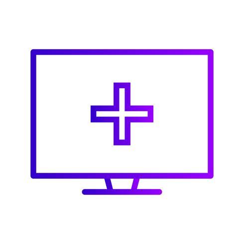 Icona di aiuto medico online di vettore