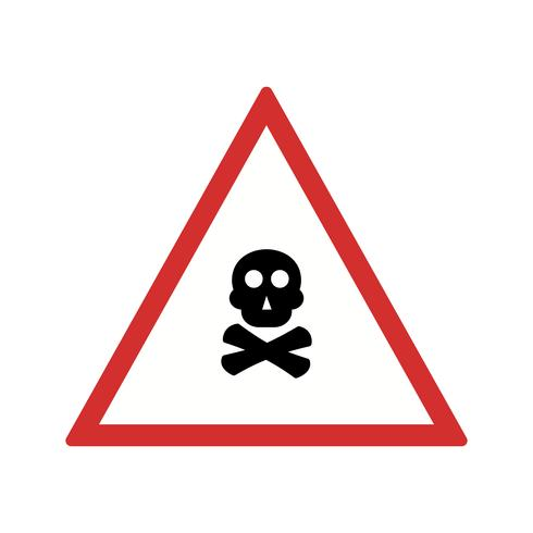 Ícone de sinal de estrada de gás venenoso de vetor