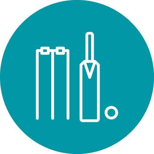 Cricket Icon Vector Illustration