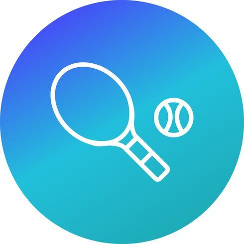 Tennis icona illustrazione vettoriale