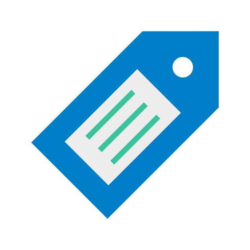 Icono de etiqueta ilustración vectorial vector