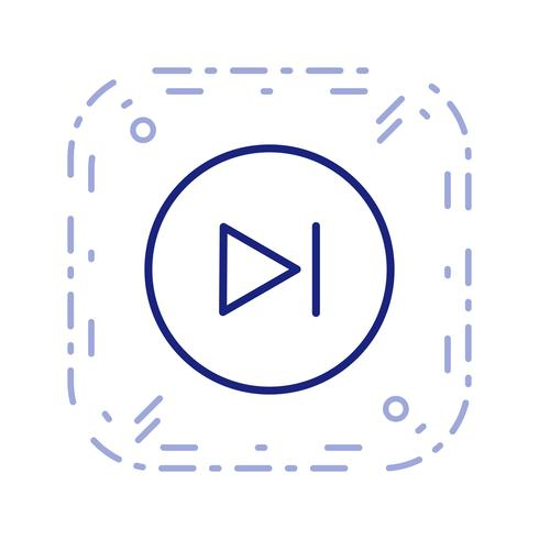Siguiente icono ilustración vectorial
