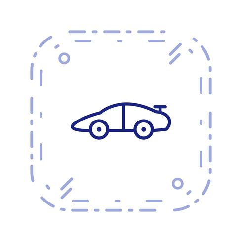 Vector sportwagen pictogram