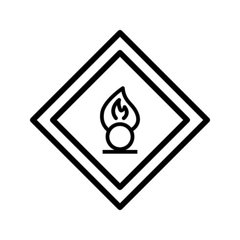 Vector Oxidizing agent Road Sign Icon