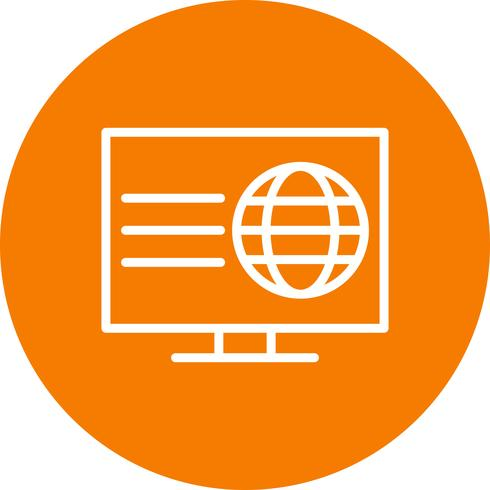 Ícone de página da Web de vetor