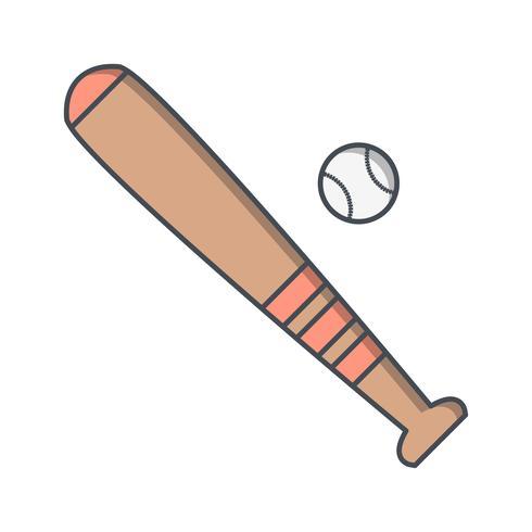 Base et balle icône Illustration vectorielle